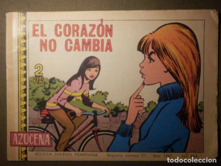 TEBEO - COMIC - AZUCENA - EL CORAZÓN CAMBIA - Nº 984 - 1967 - EDICIONES TORAY (Tebeos y Comics - Toray - Azucena)