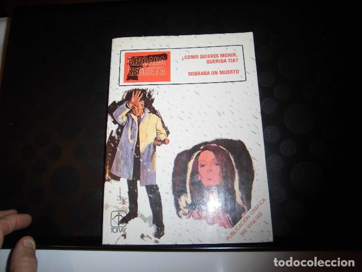 BRIGADA SECRETA Nº8..-EDICIONES TORAY 1982 (Tebeos y Comics - Toray - Brigada Secreta)