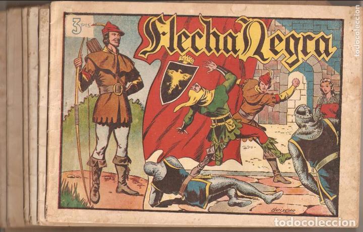 FLECHA NEGRA ALBUM AÑO 1950 COLECCIÓN COMPLETA SON 8 ÁLBUMES SON ORIGINALES DIBUJANTE BOIXCAR TORAY. (Tebeos y Comics - Toray - Flecha Negra)
