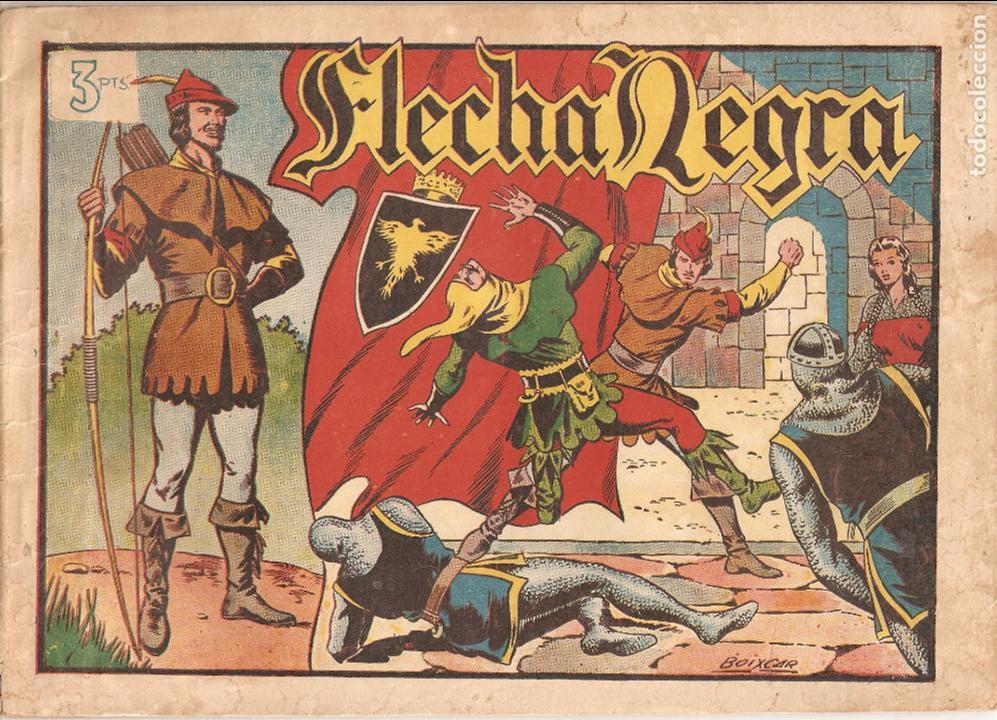 Tebeos: Flecha Negra Album, Año 1.950. Colección Completa Original. Dibujante Boixcar. Editorial Toray. - Foto 2 - 73068555