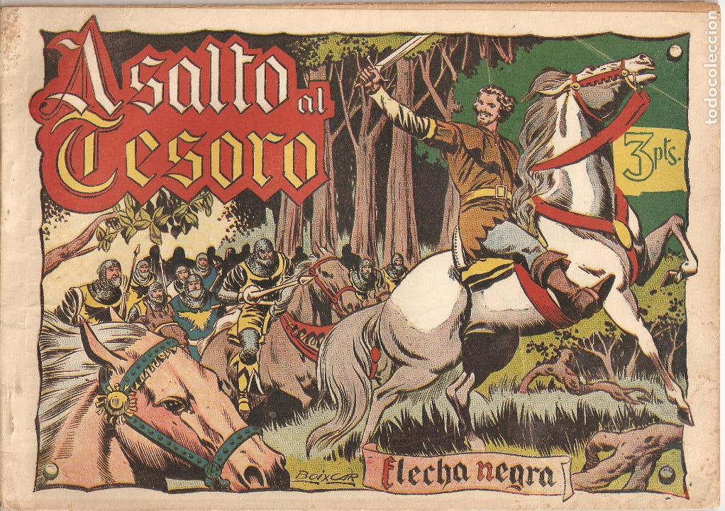 Tebeos: Flecha Negra Album, Año 1.950. Colección Completa Original. Dibujante Boixcar. Editorial Toray. - Foto 6 - 73068555