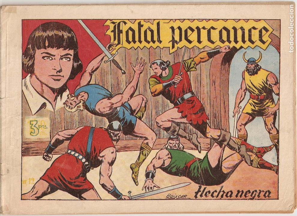 Tebeos: Flecha Negra Album, Año 1.950. Colección Completa Original. Dibujante Boixcar. Editorial Toray. - Foto 9 - 73068555