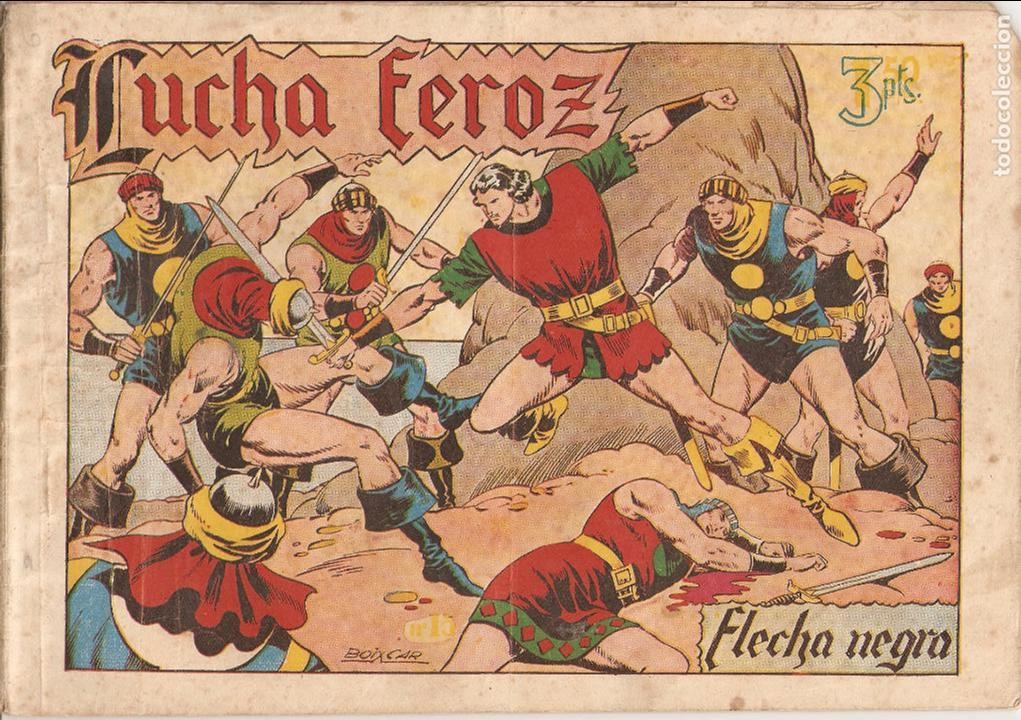 Tebeos: Flecha Negra Album, Año 1.950. Colección Completa Original. Dibujante Boixcar. Editorial Toray. - Foto 10 - 73068555