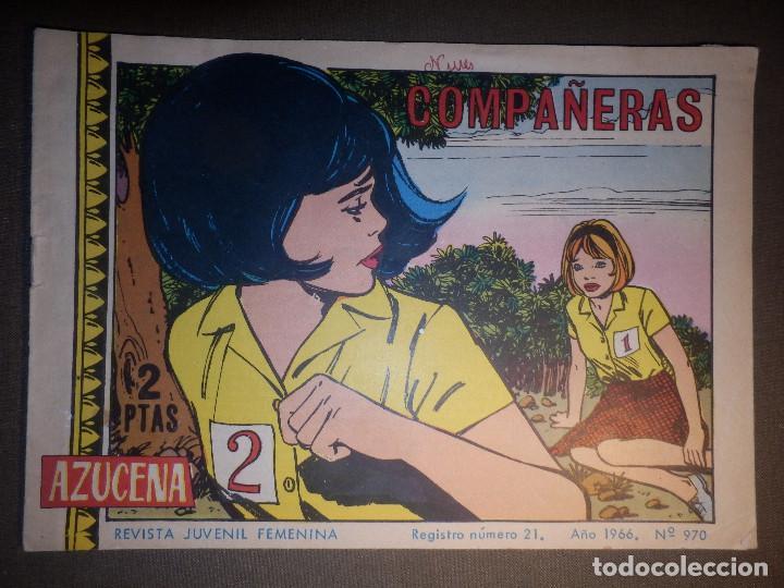TEBEO - COMIC - AZUCENA - COMPAÑERAS - Nº 970 - 1966 - EDICIONES TORAY (Tebeos y Comics - Toray - Azucena)