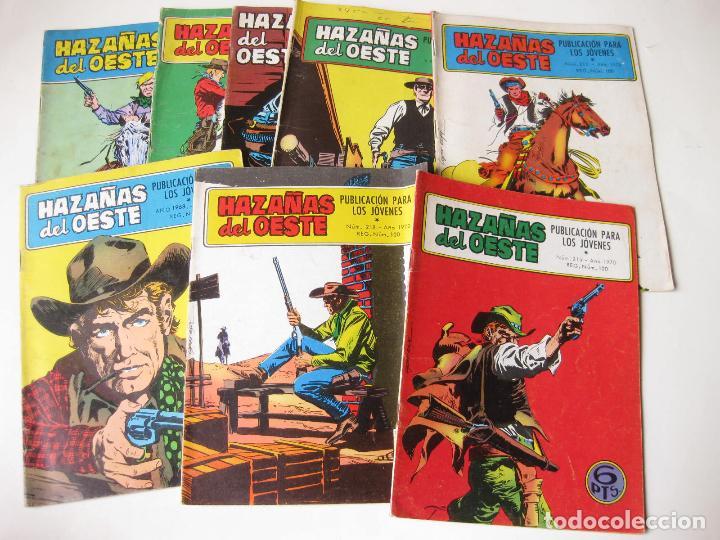 LOTE DE 8 COMIC DE HAZAÑAS DEL OSTE NUMERO 134, 153, 154, 184, 213, 215, 218 Y 228 - TORAY (Tebeos y Comics - Toray - Hazañas del Oeste)