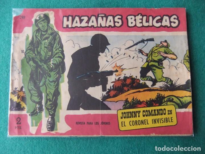 HAZAÑAS BELICAS SERIE ROJA Nº 289 JOHNNY COMANDO EDICIONES TORAY (Tebeos y Comics - Toray - Hazañas Bélicas)