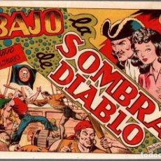Tebeos: BAJO LA SOMBRA DE DIABLO. EL HIJO DE DIABLO DE LOS MARES. Nº 14. AÑOS 40. ORIGINAL, NO REEDICION. Lote 76334143