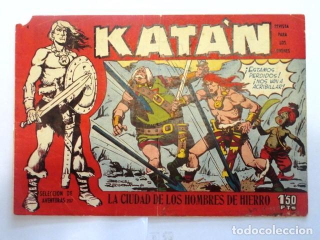 COMIC SELECCION DE AVENTURAS, KATAN, LA CIUDAD DE LS HOMBRES DE HIERRO Nº 4 TORAY 1958 (Tebeos y Comics - Toray - Katan)