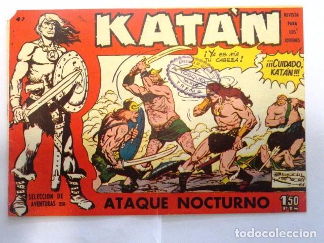 COMIC SELECCION DE AVENTURAS, KATAN, ATAQUE NOCTURNO Nº 47 TORAY 1958 (Tebeos y Comics - Toray - Katan)