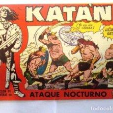 Tebeos: COMIC SELECCION DE AVENTURAS, KATAN, ATAQUE NOCTURNO Nº 47 TORAY 1958. Lote 77533997