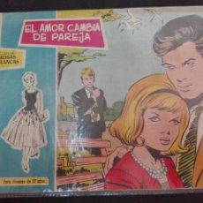 Tebeos: COLECCIÓN ROSAS BLANCAS NÚMERO 302 EL AMOR CAMBIA DE PAREJA TODA Y. Lote 78535313