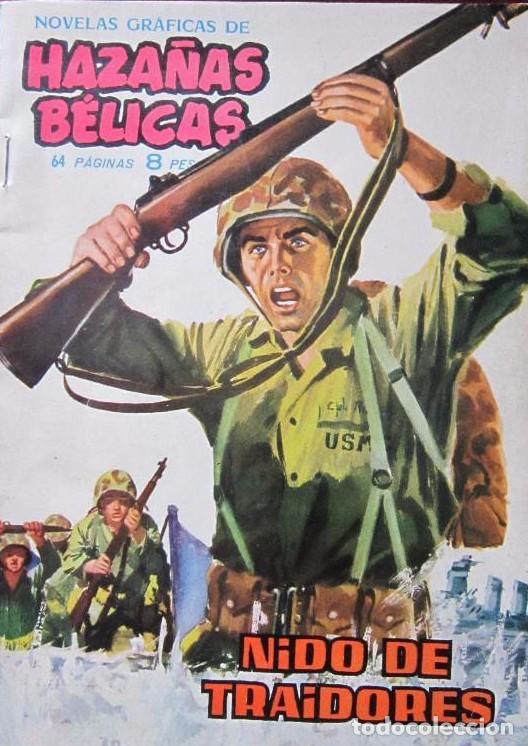 HAZAÑAS BÉLICAS 31 NIDO DE TRAIDORES NOVELAS GRÁFICAS DE GUERRA EDICIONES TORAY 1962 (Tebeos y Comics - Toray - Hazañas Bélicas)
