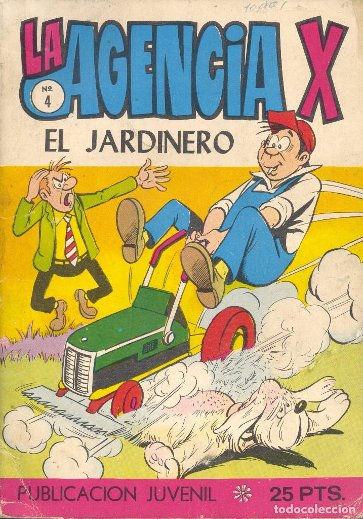LA AGENCIA X Nº4. ÚLTIMO NÚMERO. B. BARCÍA Y ALAN DOYER, EL DIBUJANTE DE GORILA. TORAY, 1971 (Tebeos y Comics - Toray - Otros)