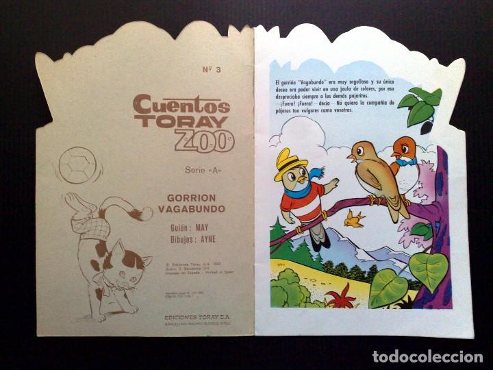Tebeos: CUENTO INFANTIL TROQUELADO ANTIGUO-GORRION VAGABUNDO-EDICIONES TORAY-SERIE A - Foto 2 - 84742092