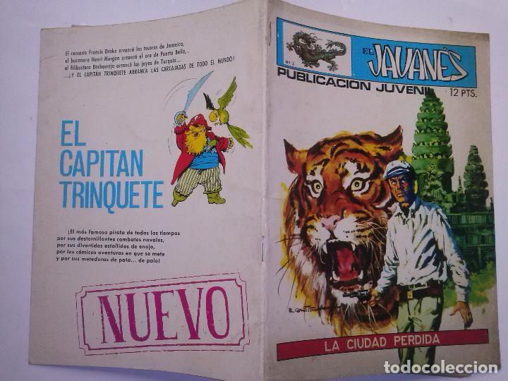 Tebeos: EL JAVANÉS- Nº 3 -´LA CIUDAD PERDIDA- 1971- LA GRAN OBRA DE A. CARRILLO-RARO Y ESCASO-BUENO-2204 - Foto 2 - 180210398