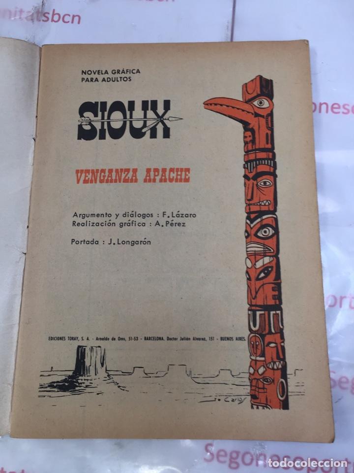 Tebeos: SIOUX VENGANZA APACHE Novela grafica para adultos Ediciones TORAY - Foto 3 - 86823928