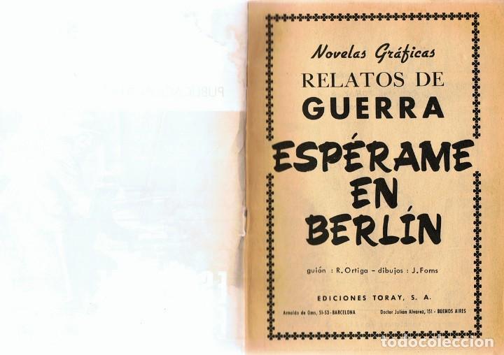 Tebeos: RELATOS DE GUERRA ¨ESPÉRAME EN BERLÍN¨ Nº 205 - Foto 2 - 87003932