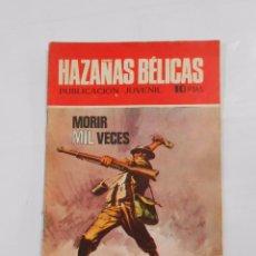 Tebeos: NOVELAS GRÁFICAS. HAZAÑAS BÉLICAS. MORIR MIL VECES. TORAY. 1970. TDKC9. Lote 87735252