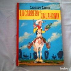 Tebeos: LUCKY LUKE LA CARRERA DE OKLAHOMA, DE MORRIS (2ª EDICION, 1969, LOMO DE TELA). Lote 88378036