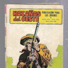 Tebeos: TEBEO HAZAÑAS DEL OESTE. Nº 212. AÑO 1970. PUBLICACION PARA LOS JOVENES. Lote 89825920