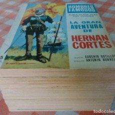 Tebeos: HOMBRES FAMOSOS COMPLETA (TORAY 1968/69) 20 EJEMPLARES EN BASTANTE BUEN ESTADO.. Lote 90423969