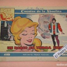 Tebeos: CUENTOS DE LA ABUELITA Nº 325, ED. TORAY, TEBEO DE CHICAS, ROMÁNTICO, ERCOM. Lote 90533420
