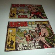 Tebeos: SIGUR EL VIKINGO, AÑO 1.958. Nº 7 - 8. ORIGINALES DIBUJOS DE J. ORTIZ. EDITORIAL TORAY.. Lote 90706635