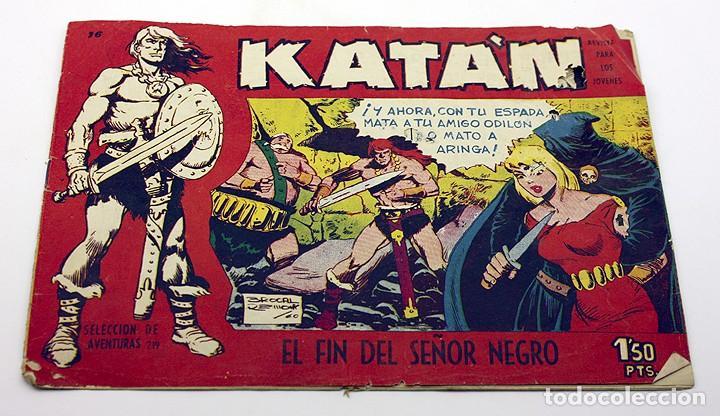 KATAN - EL FIN DEL SEÑOR NEGRO - NUMERO 16 - TORAY - COMIC (Tebeos y Comics - Toray - Katan)