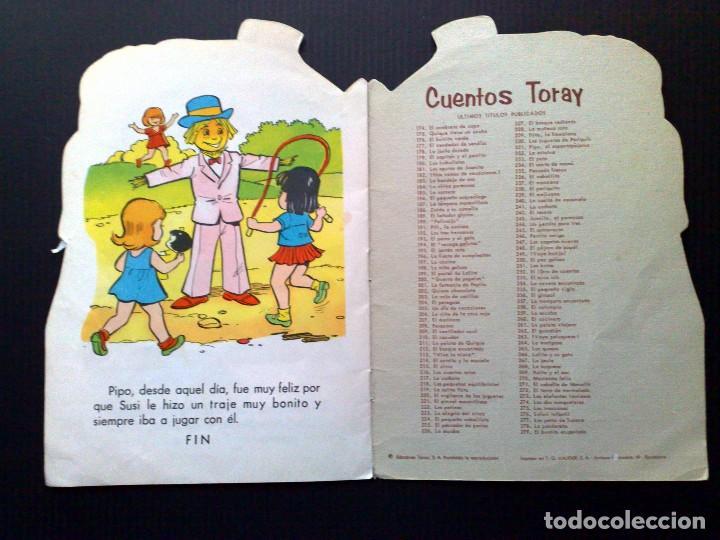 Tebeos: CUENTO INFANTIL ANTIGUO,TROQUELADO-PIPO EL ESPANTAPAJAROS,CUENTOS TORAY (DESCRIPCIÓN) - Foto 3 - 91607045
