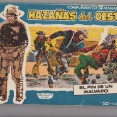 Tebeos: HAZAÑAS DEL OESTE AZUL. TORAY 1959. COMPLETA 20 EJEMPLARES. RARA COMPLETA.... Lote 94181305