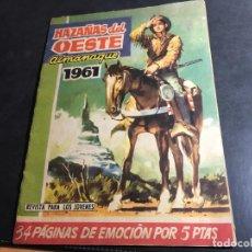 Tebeos: HAZAÑS DEL OESTE ALMANAQUE 1961 (ORIGINAL ED. TORAY) (COI31). Lote 94756927