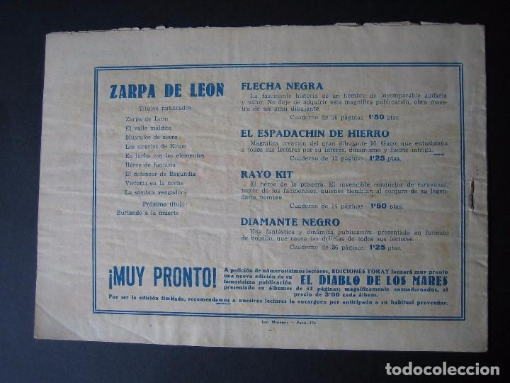 Tebeos: ZARPA DE LEON Nº 9 ( EDICIONES TORAY ,1950) - Foto 2 - 95955939