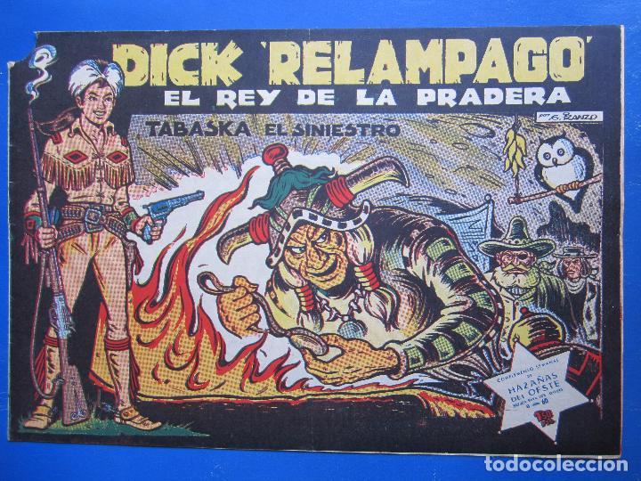 DICK RELAMPAGO , N.4 , TABASKA EL SINIESTRO , TORAY 1961 (Tebeos y Comics - Toray - Dick Relampago)