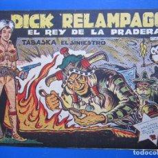 Tebeos: DICK RELAMPAGO , N.4 , TABASKA EL SINIESTRO , TORAY 1961. Lote 96311851