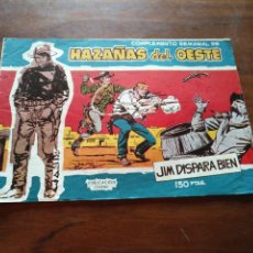 Tebeos: COMICS HAZAÑAS DEL OESTE 20 JIM DISPARA BIEN. Lote 96979103
