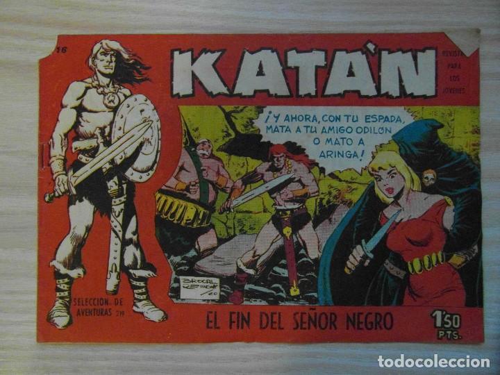 EL FIN DEL SEÑOR NEGRO.Nº 16 KATAN COLECCION SELECCION DE AVENTURAS.TORAY.1961.DIBUJA BROCAL REMOHI (Tebeos y Comics - Toray - Katan)