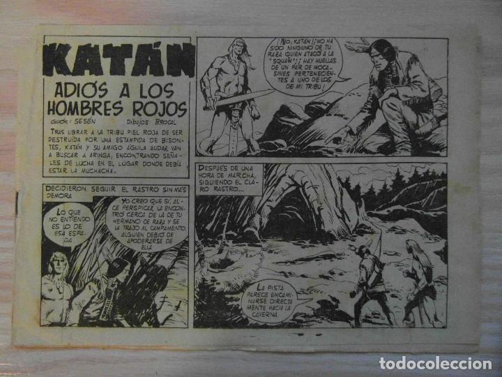 ADIOS A LOS HOMBRES ROJOS.Nº 26 KATAN COLECCION SELECCION DE AVENTURAS.TORAY.1961.DIBUJA BROCAL REMO (Tebeos y Comics - Toray - Katan)