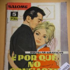 Tebeos: SALOMÉ Nº 25, ED TORAY, AÑO 1962, MARILYN MONROE, RELATOS ROMANTICOS, ERCOM. Lote 99404747