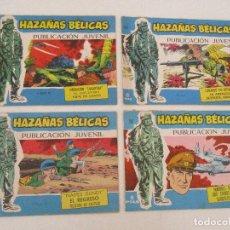 Tebeos: LOTE 4 CÓMIC - TEBEO - HAZAÑAS BÉLICAS - EDITORIAL TORAY - Nº 361, 362, 363, 367 - ORIGINAL - AÑO 71. Lote 99496271