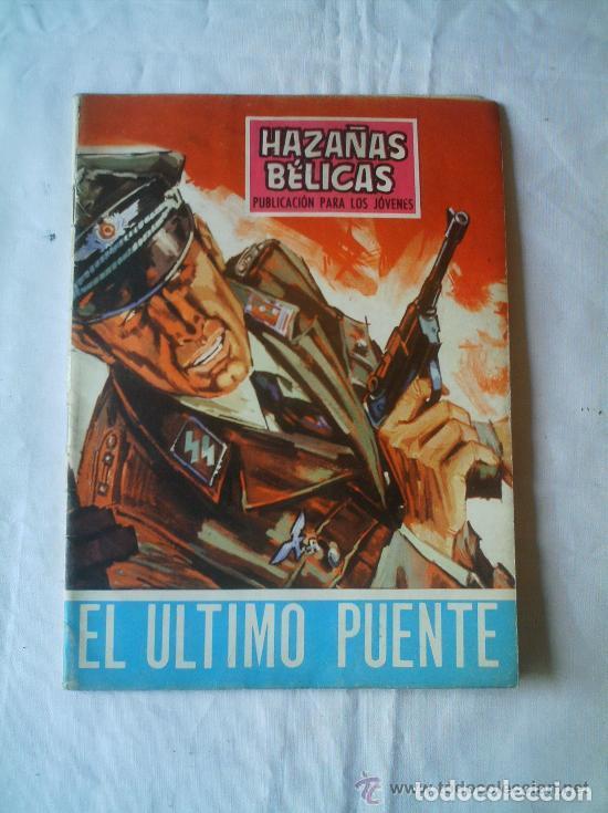 HAZAÑAS BÉLICAS - EL ULTIMO PUENTE 1968 Nº 186 (Tebeos y Comics - Toray - Hazañas Bélicas)