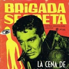 Tebeos: BRIGADA SECRETA- Nº 22 -1963-LA CENA DE LOS MUERTOS-GRAN ALEX SIMMONS-REGULAR-DIFÍCIL-LEAN-4529. Lote 253013925