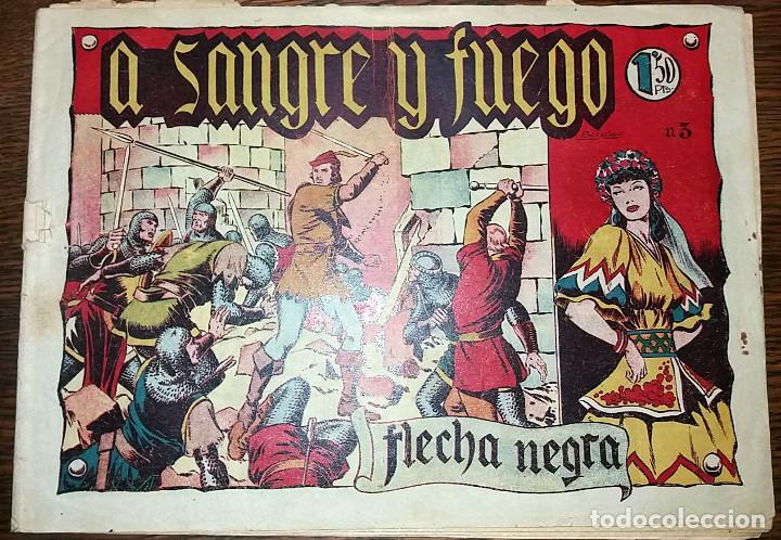 FLECHA NEGRA - A SANGRE Y FUEGO NUMERO 3 (DE 23) EDICIONES TORAY 1949 ORIGINAL (Tebeos y Comics - Toray - Flecha Negra)
