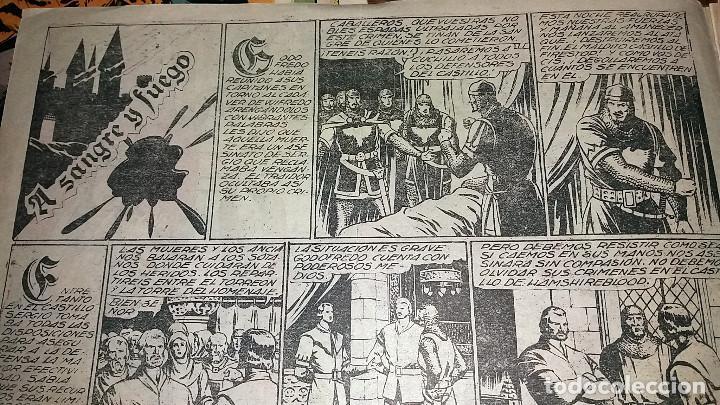 Tebeos: FLECHA NEGRA - A SANGRE Y FUEGO NUMERO 3 (DE 23) EDICIONES TORAY 1949 ORIGINAL - Foto 2 - 101015467