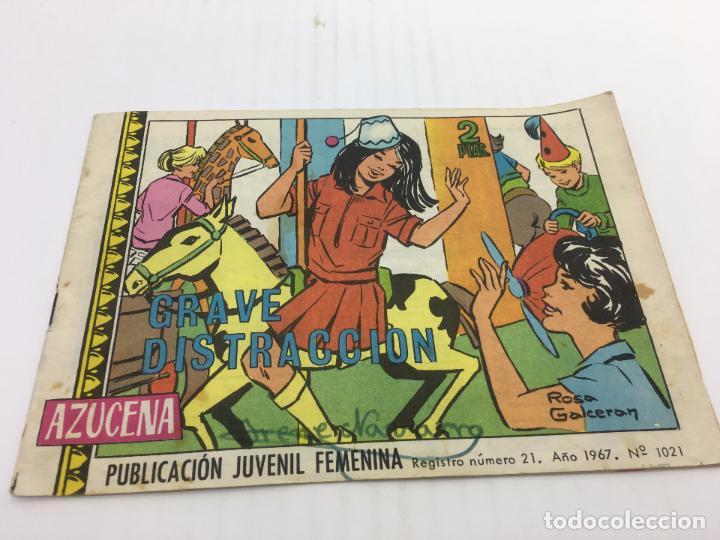AZUCENA Nº 1021 - AÑO 1967 EDICIONES TORAY (Tebeos y Comics - Toray - Azucena)