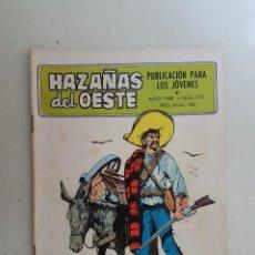 Tebeos: HAZAÑAS DEL OESTE. Nº 170. TORAY.. Lote 103141987