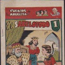 Tebeos: COMIC COLECCION CUENTOS DE LA ABUELITA EL SABELOTODO. Lote 103664735