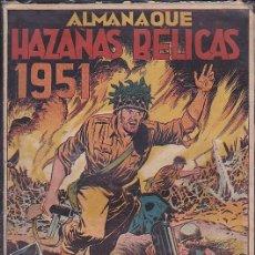 Tebeos: COMIC ALMANAQUE HAZAÑAS BELICAS 1951. Lote 103692491