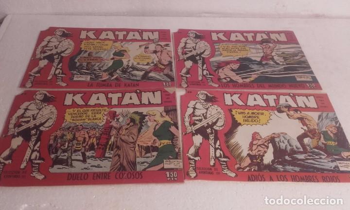 LOTE DE 4 COMIC DE KATÁN Nº 22, 23, 24 26-ORIGINALES--TORAY (Tebeos y Comics - Toray - Katan)
