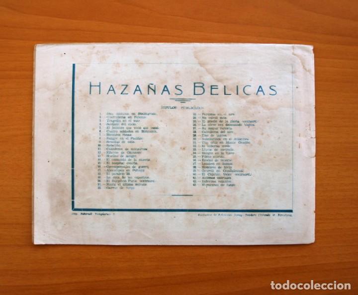 Tebeos: Hazañas Bélicas 2ª Serie, nº 43, Huracanes de fuego - Ediciones Toray 1950 - Foto 7 - 104715559