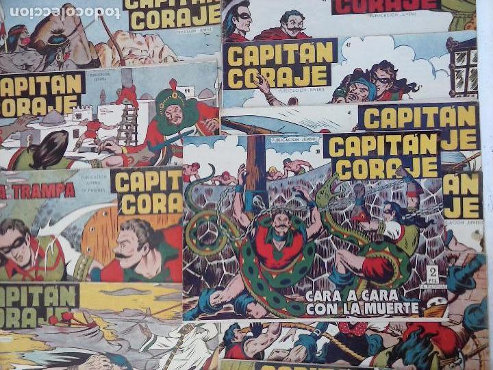 Tebeos: EL CAPITÁN CORAJE ORIGINAL TORAY 1958 COMPLETA 1 AL 44 IRANZO, SUELTA, VER TODAS LAS PORTADAS - Foto 2 - 105026571